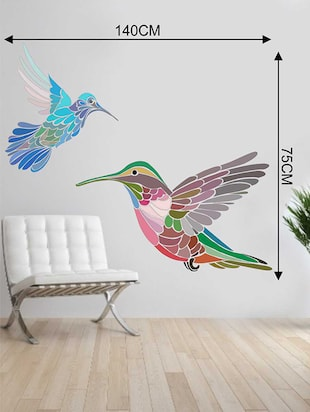 Rawpockets Wall Decals ' Multi Color Birds Wall Sticker '  Wall stickers (PVC Vinyl) Multicolour - 15733310 - Standard Image - 2