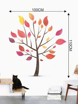 Rawpockets Wall Decals ' Tree Wall Sticker '  Wall stickers (PVC Vinyl) Multicolour - 15733332 - Standard Image - 2