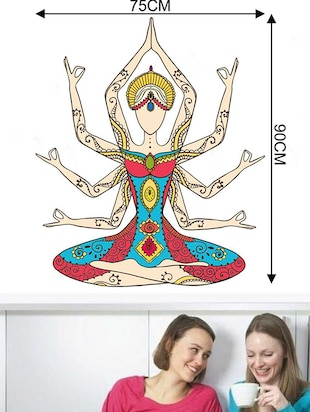 Rawpockets Wall Decals ' Kundalini Yoga Girl Wall Sticker '  Wall stickers (PVC Vinyl) Multicolour - 15733334 - Standard Image - 2