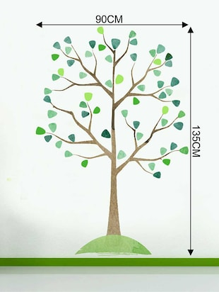 Rawpockets Wall Decals ' Watercolor Tree Wall Sticker '  Wall stickers (PVC Vinyl) Multicolour - 15733336 - Standard Image - 2