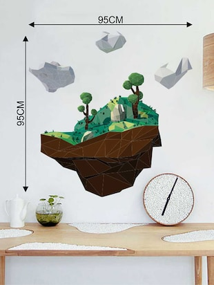 Rawpockets Wall Decals ' 3D Landscape Wall Sticker '  Wall stickers (PVC Vinyl) Multicolour - 15733337 - Standard Image - 2