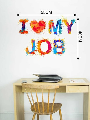 Rawpockets Wall Decals ' I Luv My Job Wall Sticker '  Wall stickers (PVC Vinyl) Multicolour - 15733347 - Standard Image - 2