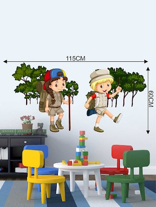 Rawpockets Wall Decals ' Kids Adventure Story Wall Sticker '  Wall stickers (PVC Vinyl) Multicolour - 15733356 - Standard Image - 2