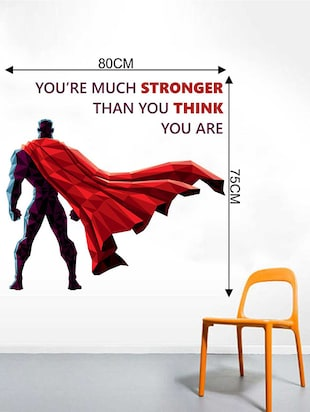 Rawpockets Wall Decals ' Be Stronger  Quote Wall Sticker '  Wall stickers (PVC Vinyl) Multicolour - 15733361 - Standard Image - 2