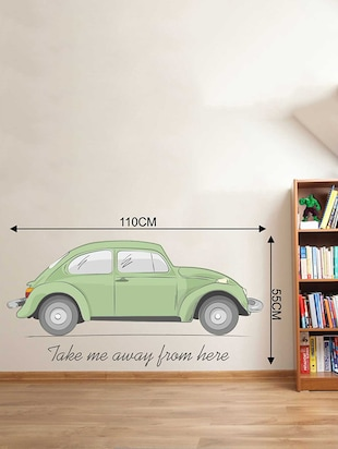 Rawpockets Wall Decals ' Car Quote Wall Sticker '  Wall stickers (PVC Vinyl) Multicolour - 15733371 - Standard Image - 2