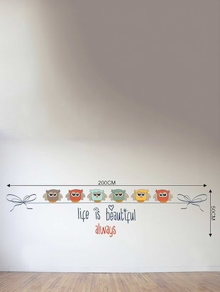 Rawpockets Wall Decals ' Life is a beautiful Quote n Bird Wall Sticker '  Wall stickers (PVC Vinyl) Multicolour - 15733388 - Standard Image - 2