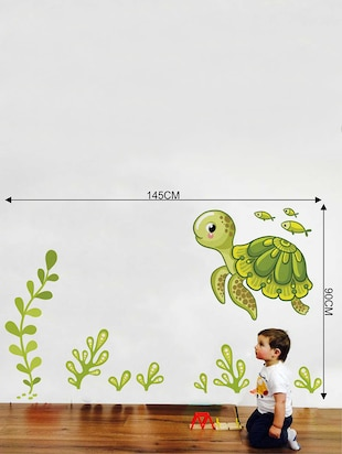 Rawpockets Wall Decals ' Under Water Story Wall Decal Sticker '  Wall stickers (PVC Vinyl) Multicolour - 15733469 - Standard Image - 2