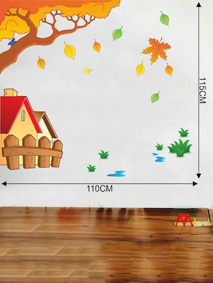 Rawpockets Wall Decals ' House and Tree Story' Wall Decal Sticker '  Wall stickers (PVC Vinyl) Multicolour - 15733503 - Standard Image - 2