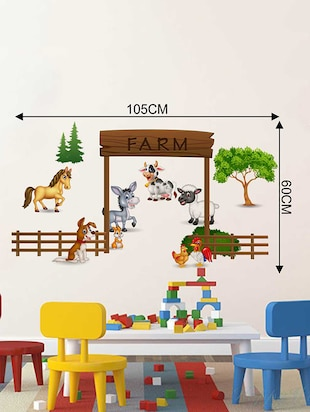 Rawpockets Wall Decals ' The Farm Story' Wall Decal Sticker '  Wall stickers (PVC Vinyl) Multicolour - 15733517 - Standard Image - 2