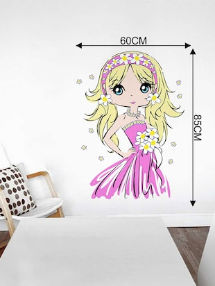Rawpockets Wall Decals ' Cute Baby Girl' Wall Decal Sticker '  Wall stickers (PVC Vinyl) Multicolour - 15733526 - Standard Image - 2