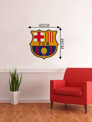 Rawpockets Wall Decals ' FCB '  Wall stickers (PVC Vinyl) Multicolour - 15733571 - Standard Image - 2