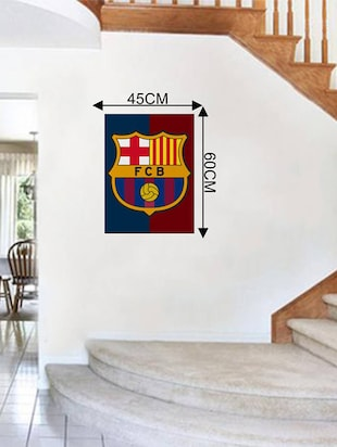 Rawpockets Wall Decals ' FCB Club '  Wall stickers (PVC Vinyl) Multicolour - 15733572 - Standard Image - 2