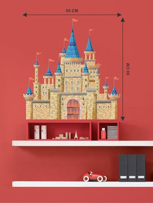 Rawpockets Wall Decals ' Fantasy Fort Wall Sticker '  Wall stickers (PVC Vinyl) Multicolour - 15733587 - Standard Image - 2