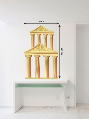 Rawpockets Wall Decals ' Roman Column Wall Sticker '  Wall stickers (PVC Vinyl) Multicolour - 15733588 - Standard Image - 2