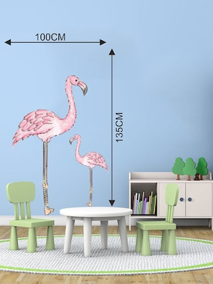 Rawpockets Wall Decals ' Pink Heron Wall Sticker '  Wall stickers (PVC Vinyl) Multicolour - 15733606 - Standard Image - 2
