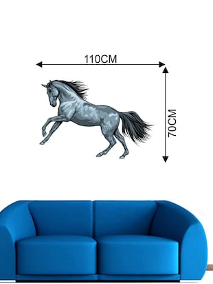 Rawpockets Wall Decals ' Wild Horse Wall Sticker '  Wall stickers (PVC Vinyl) Multicolour - 15733632 - Standard Image - 2
