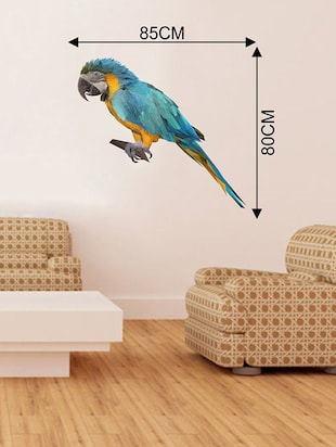 Rawpockets Wall Decals ' Multi Color Parrot Wall Sticker '  Wall stickers (PVC Vinyl) Multicolour - 15733654 - Standard Image - 2