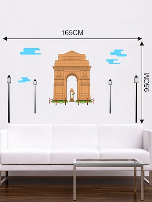 Rawpockets Wall Decals ' India Gate Wall Sticker '  Wall stickers (PVC Vinyl) Multicolour - 15733677 - Standard Image - 2