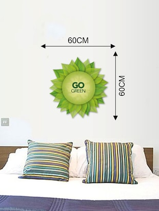 Rawpockets Wall Decals ' Go Green Wall Sticker '  Wall stickers (PVC Vinyl) Multicolour - 15733678 - Standard Image - 2