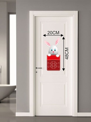 Rawpockets Wall Decals ' Rabbit Post Box Wall Sticker '  Wall stickers (PVC Vinyl) Multicolour - 15733692 - Standard Image - 2