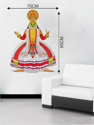 Rawpockets Wall Decals ' Kathakali Classical Dance Position Wall Sticker '  Wall stickers (PVC Vinyl) Multicolour - 15733711 - Standard Image - 2