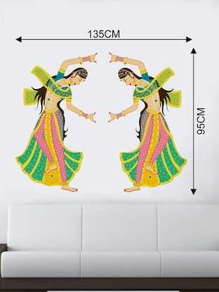 Rawpockets Wall Decals ' Girls Classic Dance Wall Sticker '  Wall stickers (PVC Vinyl) Multicolour - 15733720 - Standard Image - 2
