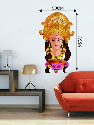 Rawpockets Wall Decals ' Goddess Kali Devi '  Wall stickers (PVC Vinyl) Multicolour - 15733743 - Standard Image - 2