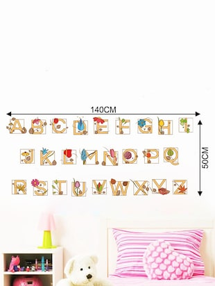 Rawpockets Wall Decals ' Alphabets for Kids '  Wall stickers (PVC Vinyl) Multicolour - 15733745 - Standard Image - 2