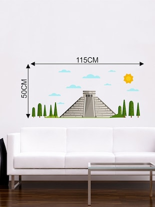 Rawpockets Wall Decals ' Pyramid '  Wall stickers (PVC Vinyl) Multicolour - 15733751 - Standard Image - 2