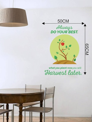 Rawpockets Wall Decals ' Do Your Best Quote '  Wall stickers (PVC Vinyl) Multicolour - 15733779 - Standard Image - 2
