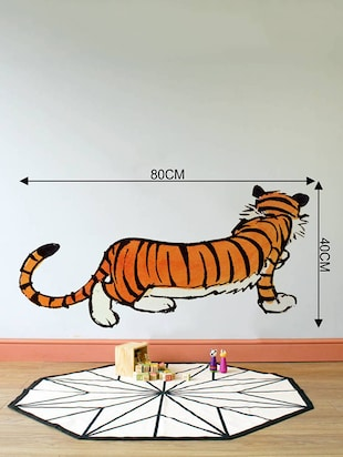Rawpockets Wall Decals ' Calvin and Hobbes Tiger '  Wall stickers (PVC Vinyl) Multicolour - 15733785 - Standard Image - 2