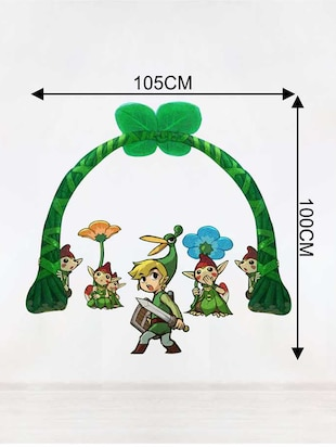 Rawpockets Wall Decals ' Cartoon Story '  Wall stickers (PVC Vinyl) Multicolour - 15733801 - Standard Image - 2