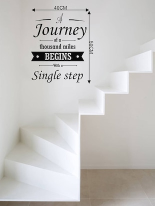 Rawpockets Wall Decals ' Quote on Journey '  Wall stickers (PVC Vinyl) Multicolour - 15733827 - Standard Image - 2