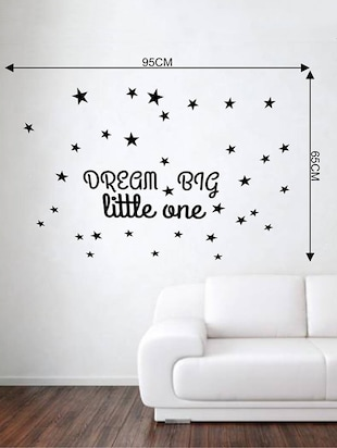 Rawpockets Wall Decals ' Baby Room : Dream Big Little One '  Wall stickers (PVC Vinyl) Multicolour - 15733836 - Standard Image - 2