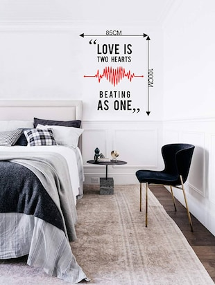 Rawpockets Wall Decals ' Love Quote  '  Wall stickers (PVC Vinyl) Multicolour - 15733845 - Standard Image - 2