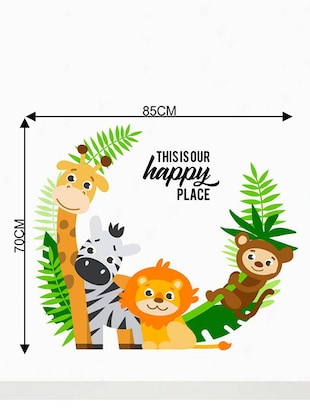 Rawpockets Wall Decals ' Living Room : This is Our Happy Place '  Wall stickers (PVC Vinyl) Multicolour - 15733849 - Standard Image - 2