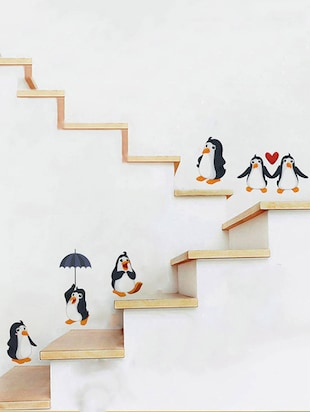 Rawpockets Wall Decals ' Living Room : Funny Penguins '  Wall stickers (PVC Vinyl) Multicolour - 15733863 - Standard Image - 2