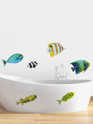 Rawpockets Wall Decals ' Colorful Fish  '  Wall stickers (PVC Vinyl) Multicolour - 15733885 - Standard Image - 2