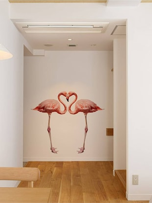 Rawpockets Wall Decals ' Bed Room Pink Flamingo '  Wall stickers (PVC Vinyl) Multicolour - 15733889 - Standard Image - 2