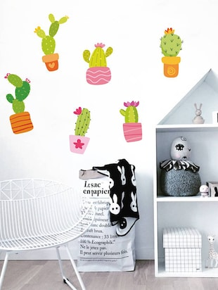 Rawpockets Wall Decals ' Cactus Story '  Wall stickers (PVC Vinyl) Multicolour - 15733904 - Standard Image - 2