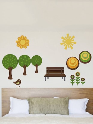 Rawpockets Wall Decals ' Natural Park '  Wall stickers (PVC Vinyl) Multicolour - 15733928 - Standard Image - 2