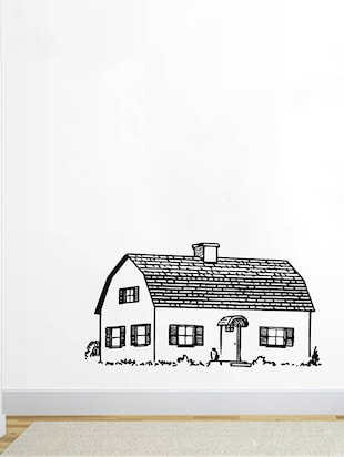Rawpockets Wall Decals ' Beautiful Village House  '  Wall stickers (PVC Vinyl) Multicolour - 15733933 - Standard Image - 2