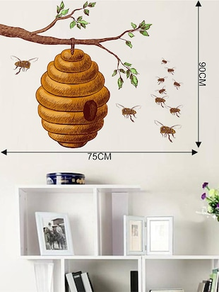 Rawpockets Wall Decals ' Honey Bee on Tree Story  '  Wall stickers (PVC Vinyl) Multicolour - 15733950 - Standard Image - 2