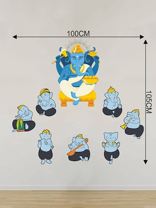 Rawpockets Wall Decals ' Lord Ganesha Troops Combo '  Wall stickers (PVC Vinyl) Multicolour - 15733976 - Standard Image - 2