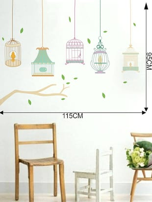 Rawpockets Wall Decals ' Different Kind of Cages '  Wall stickers (PVC Vinyl) Multicolour - 15733985 - Standard Image - 2