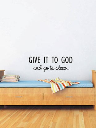 "Rawpockets Wall Decals ' "" Give it to God "" Quote '  Wall stickers (PVC Vinyl) Multicolour - 15734029 - Standard Image - 2"