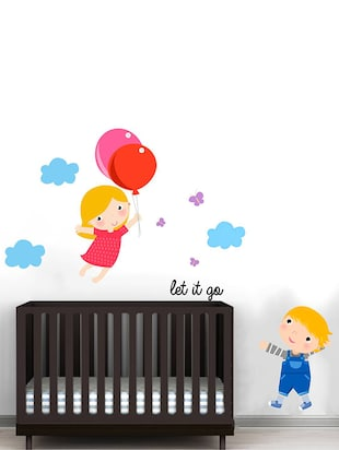Rawpockets Wall Decals ' Let it go Cartoon - Kid's Room '  Wall stickers (PVC Vinyl) Multicolour - 15734046 - Standard Image - 2