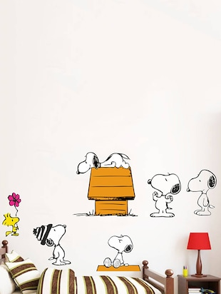 Rawpockets Wall Decals ' Snoopy Dog Story - Kid's Room '  Wall stickers (PVC Vinyl) Multicolour - 15734062 - Standard Image - 2