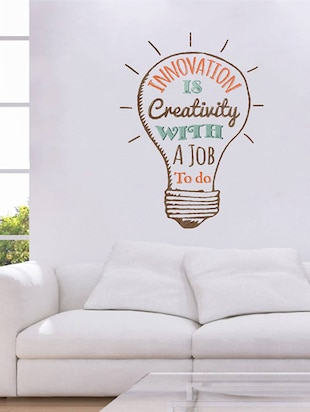 Rawpockets Wall Decals ' Quote on Innovation '  Wall stickers (PVC Vinyl) Multicolour - 15734068 - Standard Image - 2