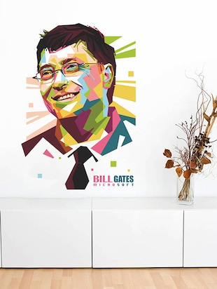 Rawpockets Wall Decals ' Bill Gates - Inspiration '  Wall stickers (PVC Vinyl) Multicolour - 15734088 - Standard Image - 2